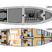 Layout plans of Indonesia liveaboard Calico Jack