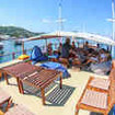 Chilling on the sundeck of the Komodo liveaboard Mastro Aldo
