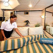 Master stateroom aboard the Turks & Caicos Aggressor II liveaboard
