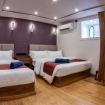 Lower deck cabin with double and twin beds
