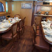 M/Y Dreams liveaboard dining room
