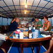 Guests chilling before a night dive from the M/V Scuba Adventure