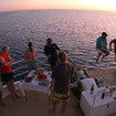 Odyssey guests enjoy sundowners Australian style