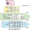 Red Sea Aggressor II layout plans