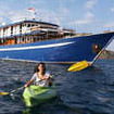 Ambai offers guests the opportunity to kayak during their diving safaris in Indonesia
