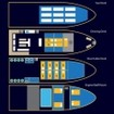 Simple layout plan of the Similan liveaboard MV Manta Queen 5