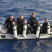 Felo's dive dinghy - setting off to explore the unforgettable Red Sea sites