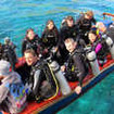 Eager divers anticipating macro delights off Komodo Island