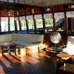 Air-conditioned saloon aboard Raja Ampat liveaboard Dewi Nusantara