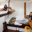 Standard twin bunk bed cabin (models not included)