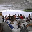Open air upper deck of M/V Sea Hunter, Cocos Island, Costa Rica