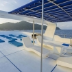 Enjoy the changing views of the Similan Islands from the sundeck