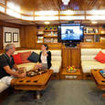 Spacious saloon aboard the Ecuador liveaboard, Galapagos Aggressor III