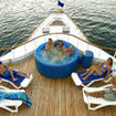 Galapagos Aggressor III's sundeck with hot tub
