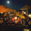 Moonlight dining on the moonlit sundeck