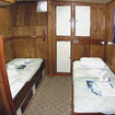 Lower deck twin bed cabin with en-suite bathroom, M/V Sea Hunter
