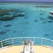 View of Rowley Shoals in Western Australia from the Odyssey bow