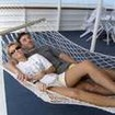 Sundeck relaxation in a hammock built for 2