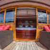 Enjoy a private balcony when you book the upper deck Master cabin