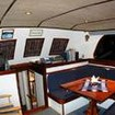 Ocean Hunter I's cosy saloon