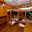 MV White Manta Deluxe quad (4-share) cabin on the main deck