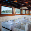 Samata's stylish air-conditioned restaurant where guests enjoy fine dining