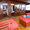 The aft deck lounging area exclusively for Superior cabin occupants