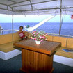 Relax on the upper deck of the MV Panunee