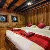 Deluxe double cabin on La Galigo's lower deck