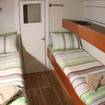 Classic twin bed cabin