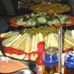 Buffet onboard the Cocos liveaboard, M/V Undersea Hunter