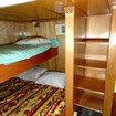 Standard double/twin bed cabin accommodation on M/V Sea Escape