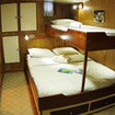 Lower deck twin/double bed cabin