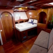 Another cabin with double bed and sofa