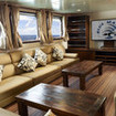 Enjoy Blue Manta's saloon on diving tours to Komodo and Raja Ampat