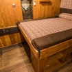Standard double bed cabin accommodation