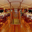 Comfortable dining area onboard the Nai'a