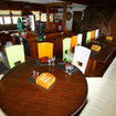 The Indonesia liveaboard, WAOW's air-conditioned saloon and dining area