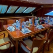 Meals are enjoyed in the dining room on your Egypt dive tour
