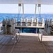 The spacious dive deck