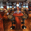 Fiji Siren liveaboard's spacious air-conditioned lounge area