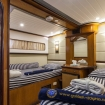 Twin bed liveaboard accommodation