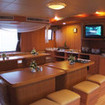 The elegant saloon onboard the Thailand liveaboard, MV Panunee