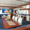 The large and comfortable dining area on board