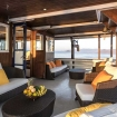 MV Ambai's comfortable outdoor lounge area