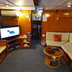 The indoor saloon of this Thailand liveaboard