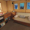 Saloon and library on M/V Undersea Hunter