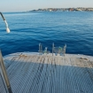 The dive platform of this Red Sea liveaboard