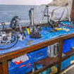 The camera table on board this Indonesian dive schooner