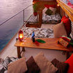Oversea veranda suites / staterooms have private rooftop cabanas
